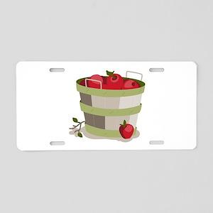 Apple Basket Aluminum License Plate