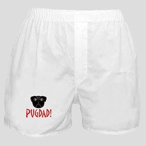 Black Pugdad Boxer Shorts