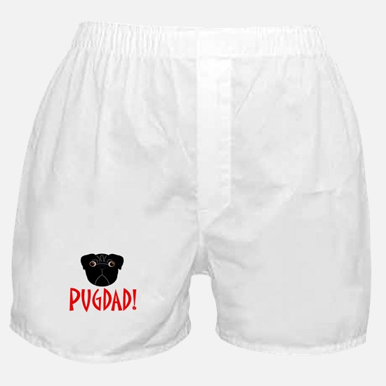 Black Pugdad Boxer Shorts