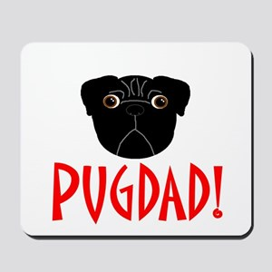 Black Pugdad Mousepad