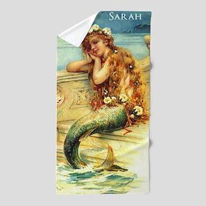 Victorian Mermaid Beach Towel