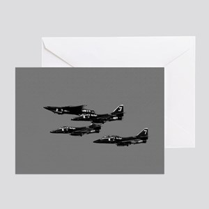 A-4 Blue Angels 1 Up 3 Down Greeting Cards (6)