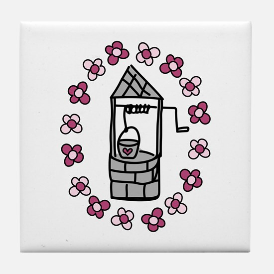 Wishing Water Well Tile Coaster