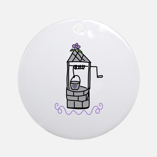 Wishing Water Well Ornament (Round)