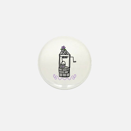 Wishing Water Well Mini Button