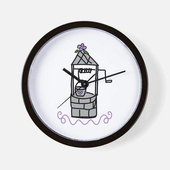 Wishing Water Well Wall Clock
