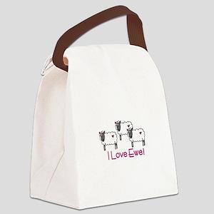 I love ewe! Canvas Lunch Bag