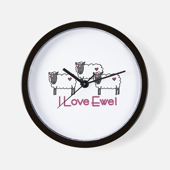 I love ewe! Wall Clock