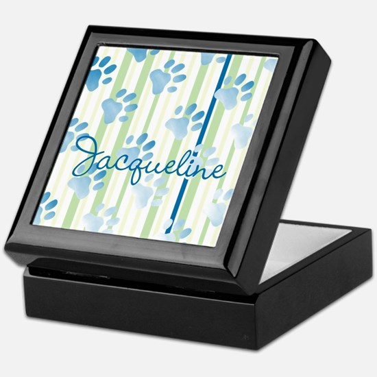 Personalized Paw Prints Keepsake Box