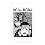 Vintage BORA BORA Rectangle Sticker