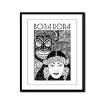Vintage BORA BORA Framed Panel Print