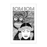 Vintage BORA BORA Mini Poster Print