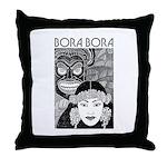 Vintage BORA BORA Throw Pillow