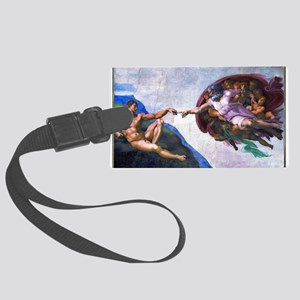 Michelangelo: Creation of Adam Large Luggage Tag