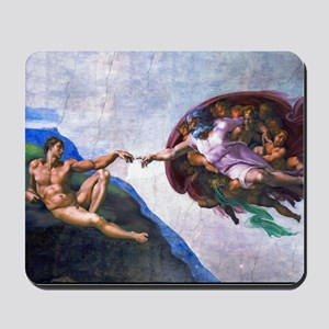 Michelangelo: Creation of Adam Mousepad