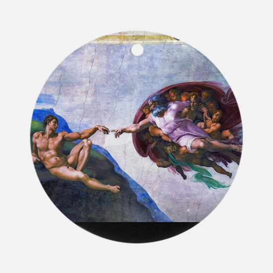 Michelangelo: Creation of Adam Ornament (Round)