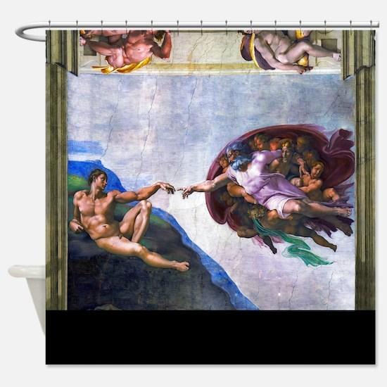 Michelangelo: Creation of Adam Shower Curtain