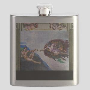 Michelangelo: Creation of Adam Flask