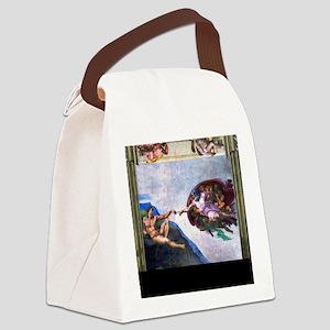 Michelangelo: Creation of Adam Canvas Lunch Bag