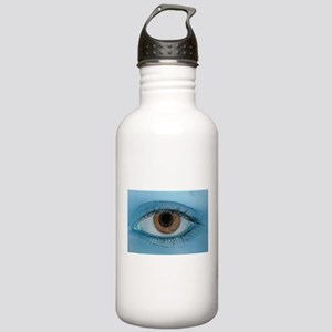 Brown Eye on Blue Water Bottle