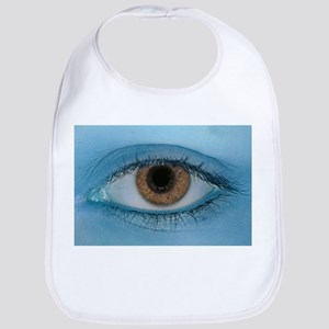 Brown Eye on Blue Bib