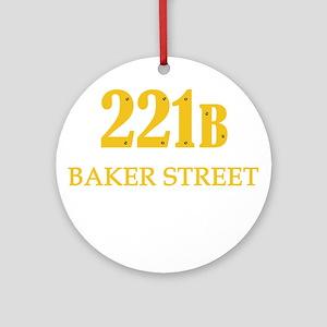 221 B Baker Street Ornament (Round)