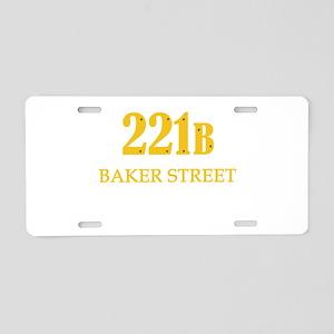 221 B Baker Street Aluminum License Plate