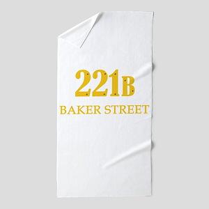 221 B Baker Street Beach Towel