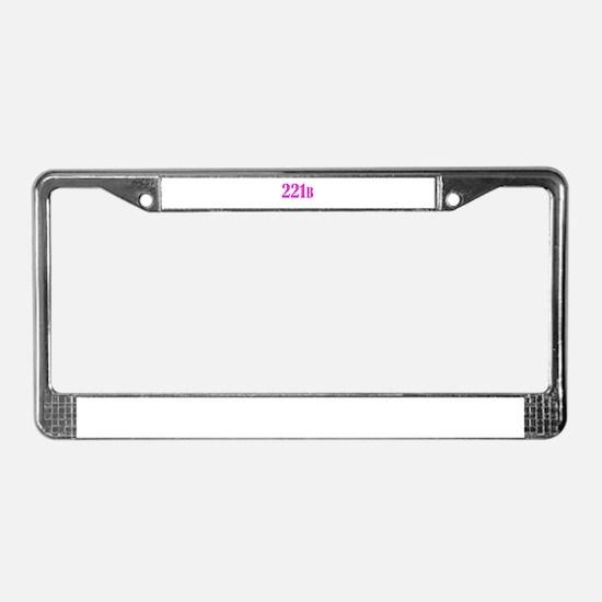 221 B Pink License Plate Frame