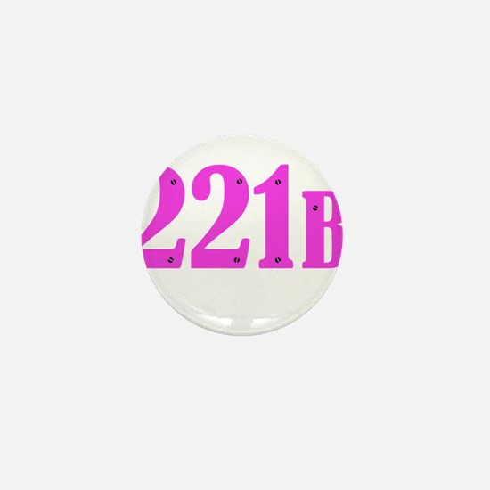 221 B Pink Mini Button