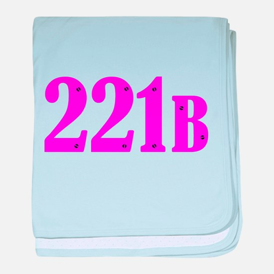 221 B Pink baby blanket