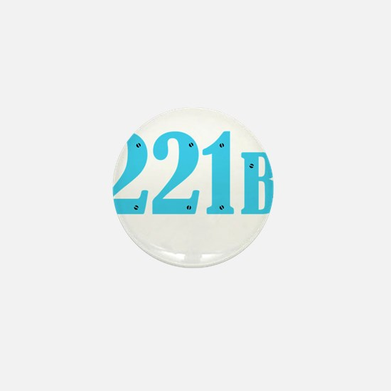 221 B Blue Mini Button