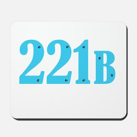 221 B Blue Mousepad