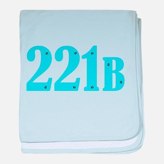 221 B Blue baby blanket
