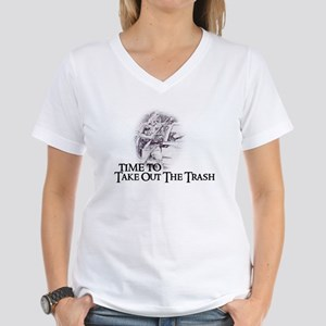 Take out the trash Women's V-Neck T-Shirt