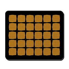 Cool Orange Checked Mousepad