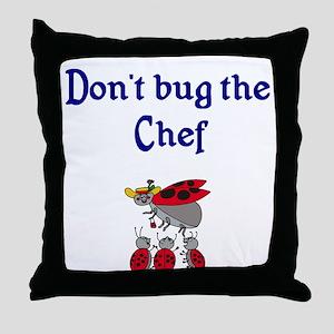 Chef Ladybugs Throw Pillow