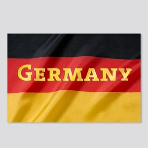 Flag of Germany, labeled Postcards (Package of 8)