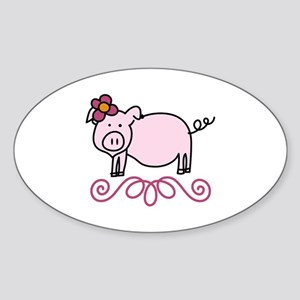 Flower Floral Miss Piggy Pig Animal Sticker
