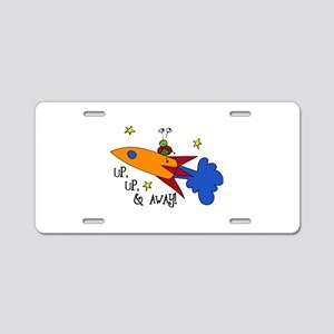 Up, Up, and Away Aluminum License Plate