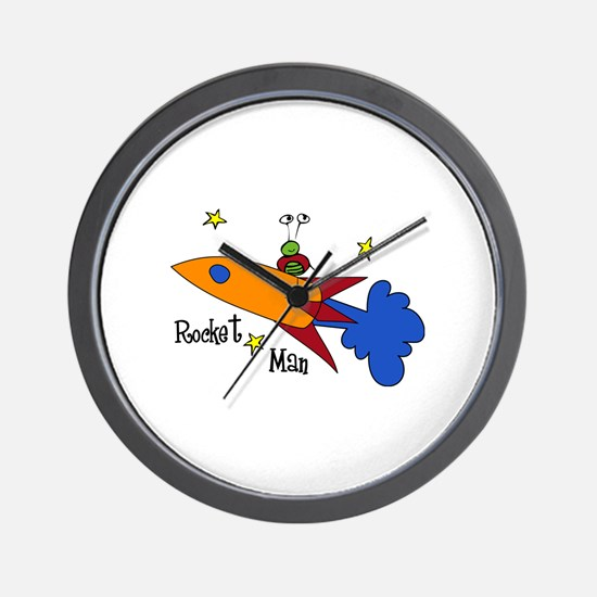 Rocket Man Wall Clock
