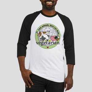 Love Animals Dont Eat Them Vegetar Baseball Jersey