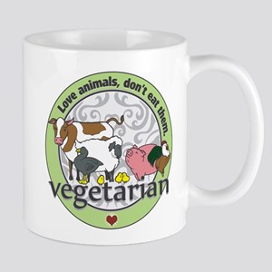 Love Animals Dont Eat Them Vegetarian Mug