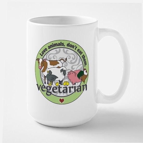 Love Animals Dont Eat Them Vegetarian Large Mug