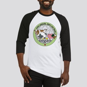 Love Animals Dont Eat Them Vegan Baseball Jersey