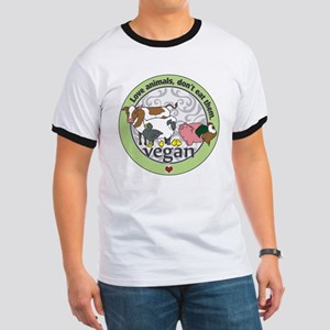 Love Animals Dont Eat Them Vegan Ringer T