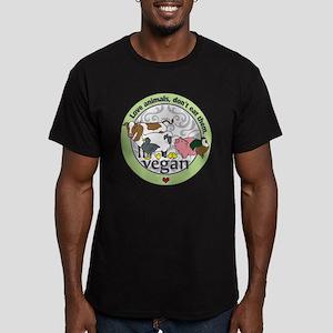 Love Animals Dont Eat Men's Fitted T-Shirt (dark)