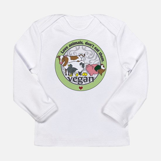 Love Animals Dont Eat T Long Sleeve Infant T-Shirt
