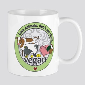Love Animals Dont Eat Them Vegan Mug