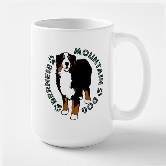 Standing Bernese Mountain Dog 02 Mugs